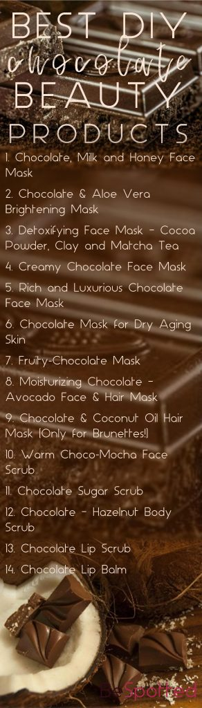 Pinterest friendly image for DIY Chocolate Face Mask Recipes