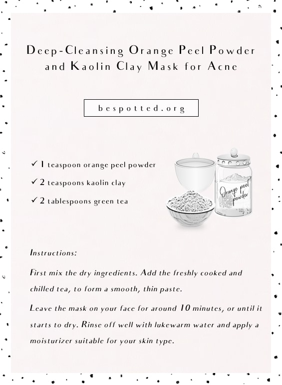 Deep-Cleansing Orange Peel Powder and Kaolin Clay Mask - full recipe