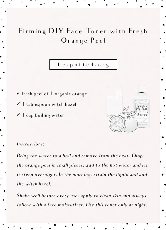 A full recipe for Firming DIY Face Toner