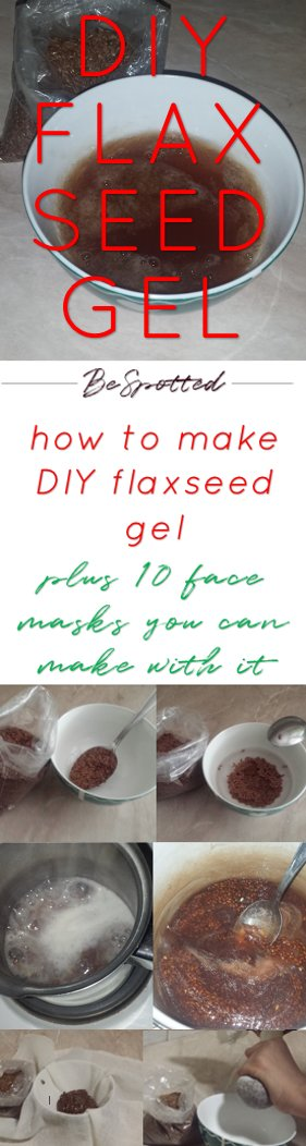 Flaxseed Gel Recipe, DIY Flaxseed Gel - Pinterest friendly image