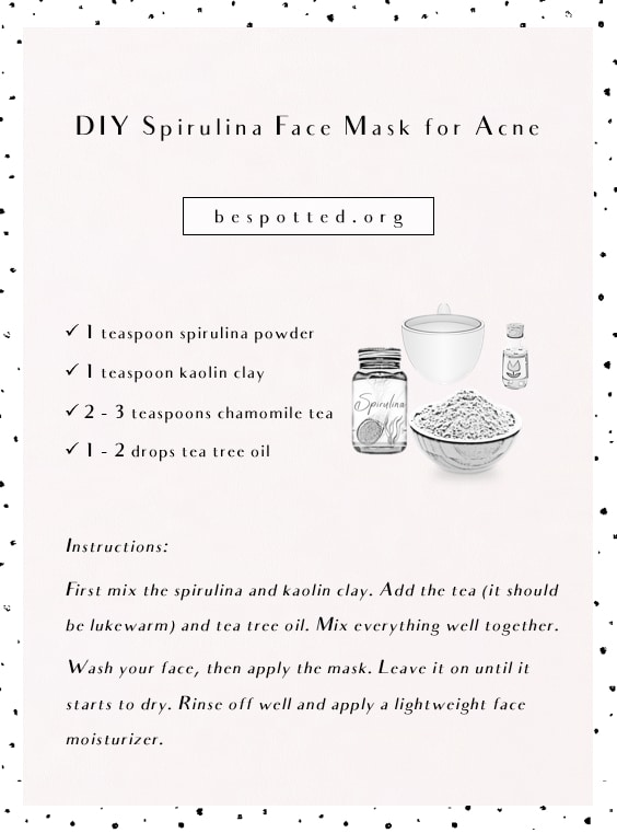 A recipe for DIY Spirulina Face Mask for Acne