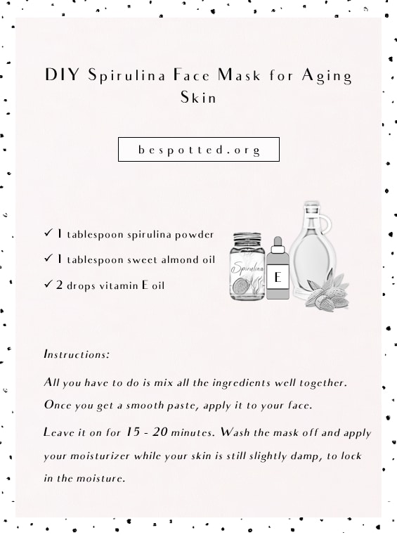 A full recipe for anti-aging DIY spirulina face mask