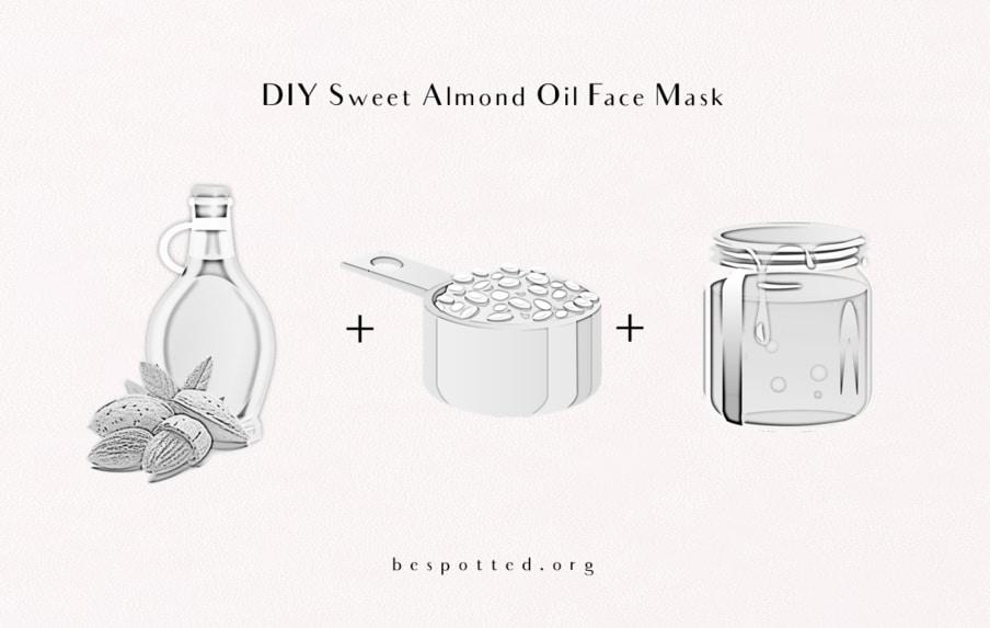 DIY Sweet Almond Oil Face Mask - Recipe Ingredients