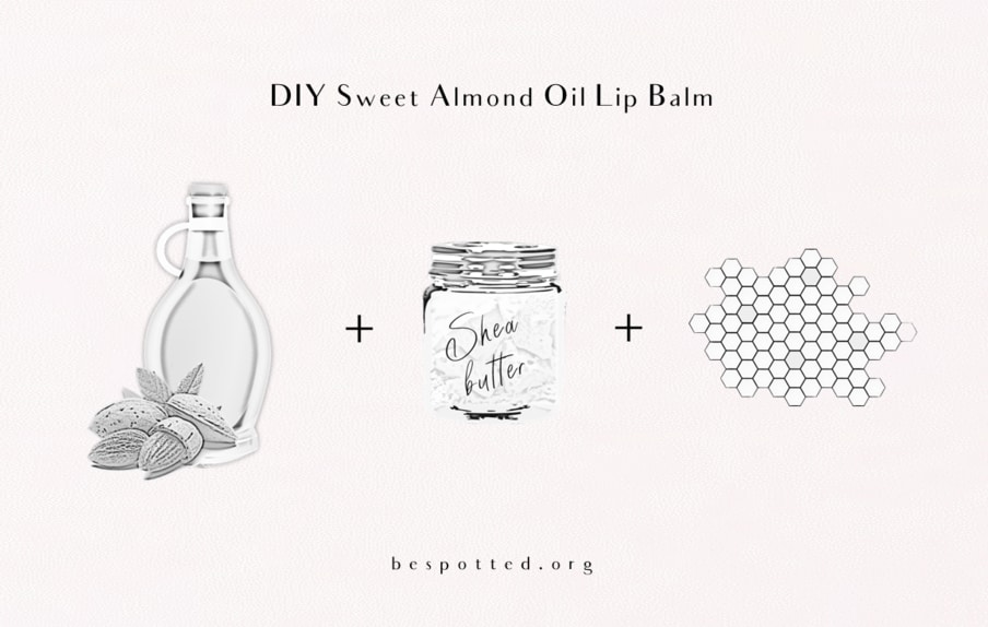 How to make DIY Sweet Almond Oil Lip Balm