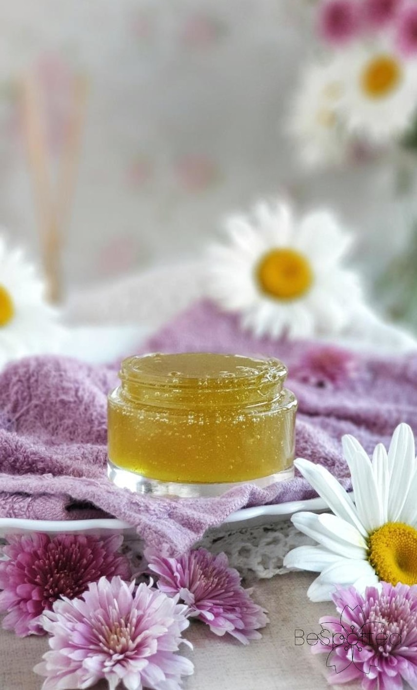 Freshly made aloe vera and honey mask for acne, skin imperfections and dull complexion