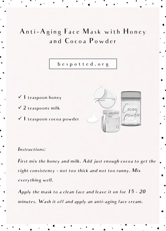 DIY Anti-Aging Face Mask with Honey and Cocoa Powder - infographic
