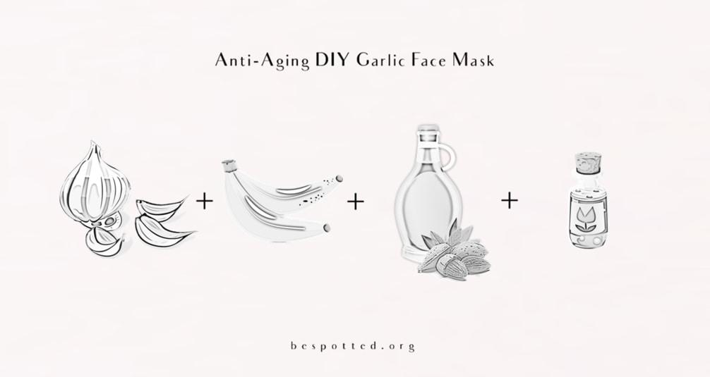 The ingredients for Anti-Aging DIY Garlic Face Mask