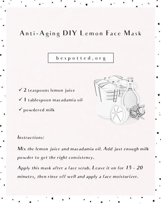 A recipe for anti-aging DIY lemon face mask