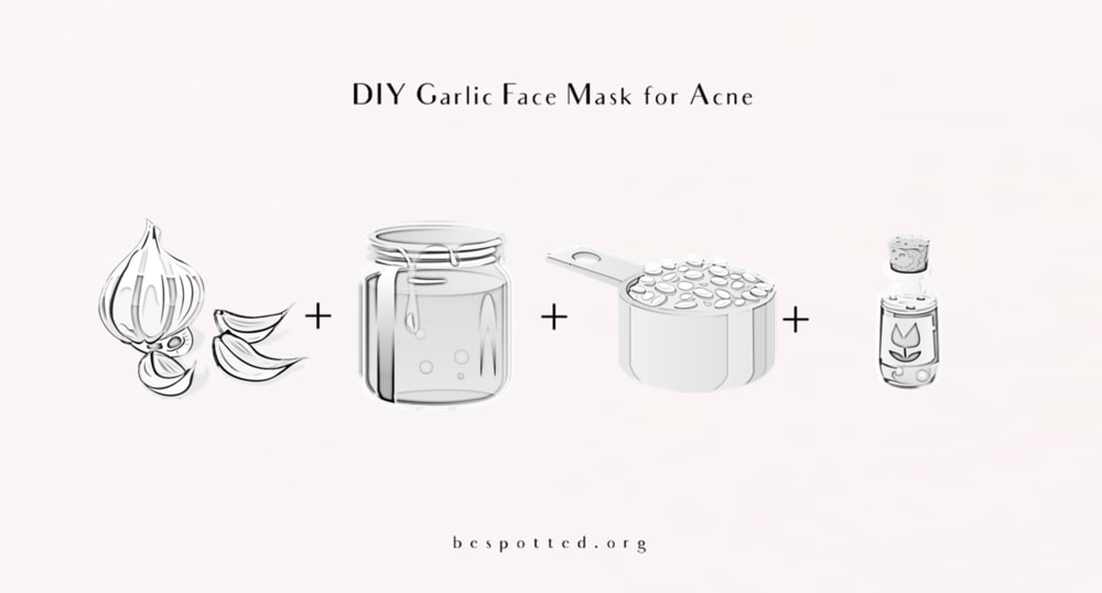 The ingredients for DIY Garlic Face Mask for Acne