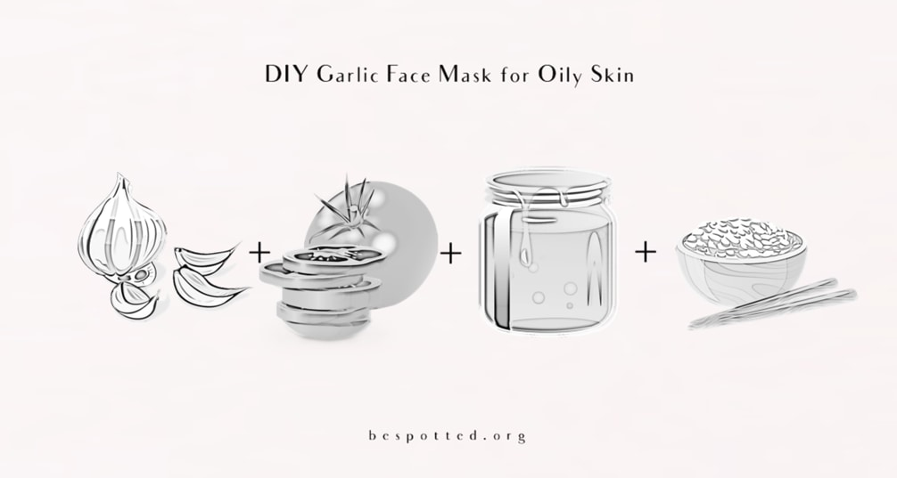 The ingredients for DIY Garlic Face Mask for Oily Skin