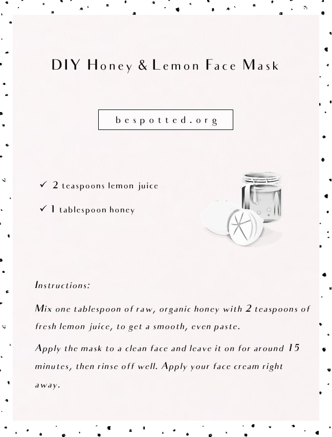A recipe for DIY lemon and honey face mask