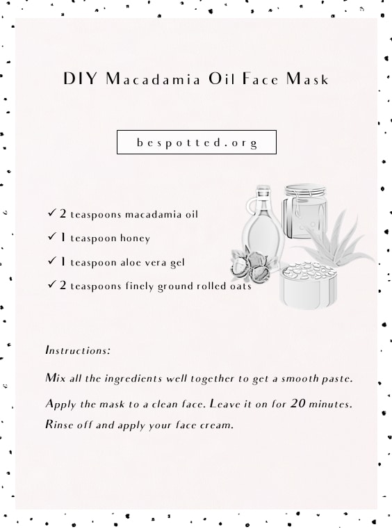 A recipe for DIY Macadamia Oil Face Mask