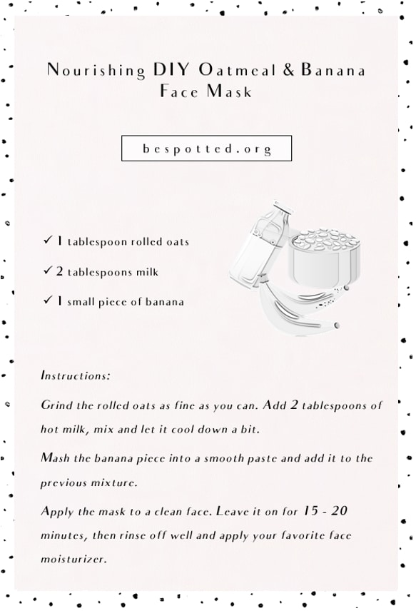 Recipe for Nourishing DIY Oatmeal Face Mask