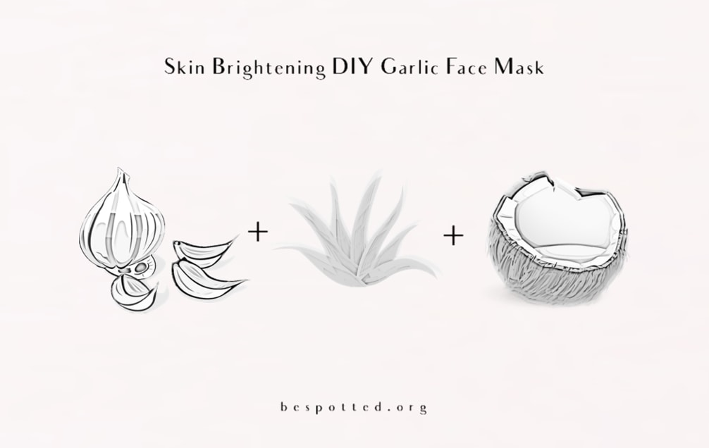 The ingredients for Skin Brightening DIY Garlic Face Mask