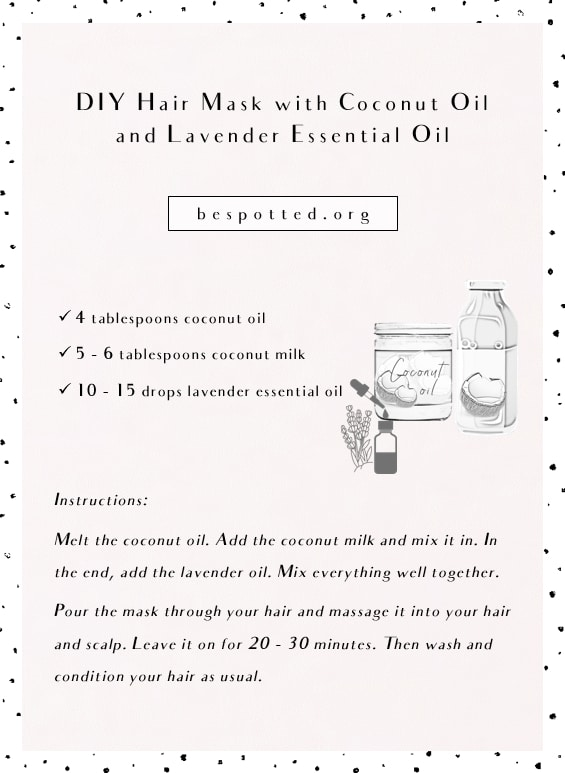 DIY Hair Mask with Coconut Oil and Lavender Essential Oil - infographic