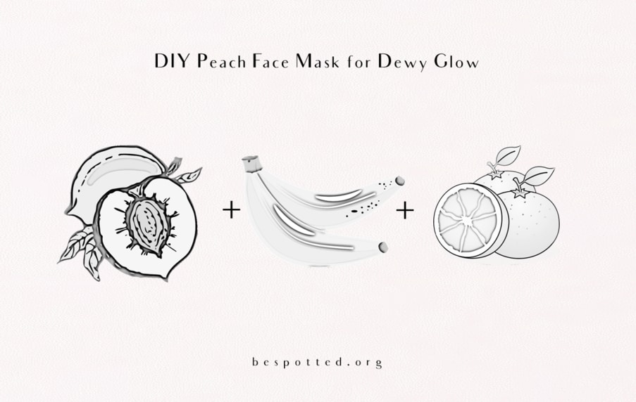 The ingredients for Diy Peach Face Mask for Dewy Glow