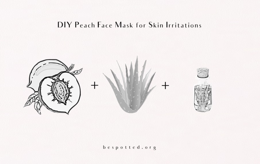 How to Make Diy Peach Face Mask for Skin Irritations