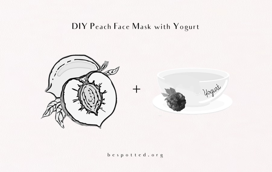 The ingredients for Diy Peach Face Mask with Yogurt