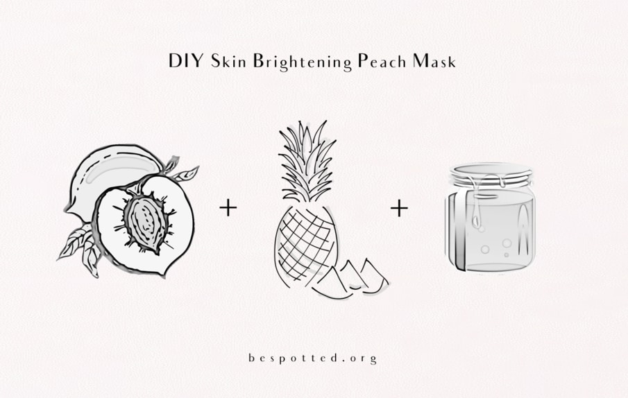 All the necessary ingredients for Diy Skin Brightening Peach Mask