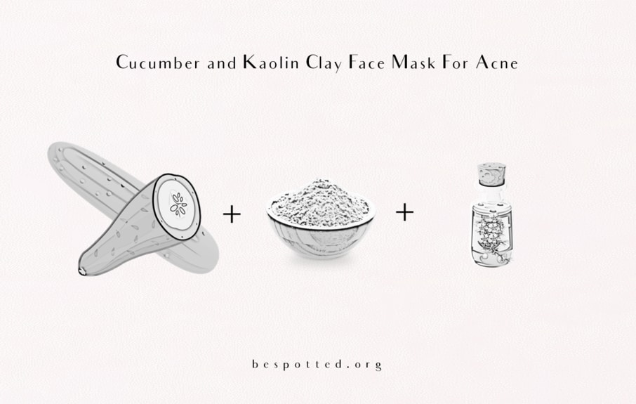 The best Cucumber and Kaolin Clay Face Mask For Acne - the ingredients