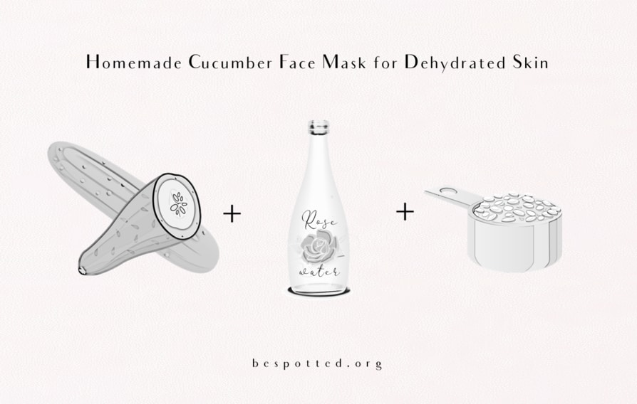A recipe for Homemade Cucumber Face Mask for Dehydrated Skin