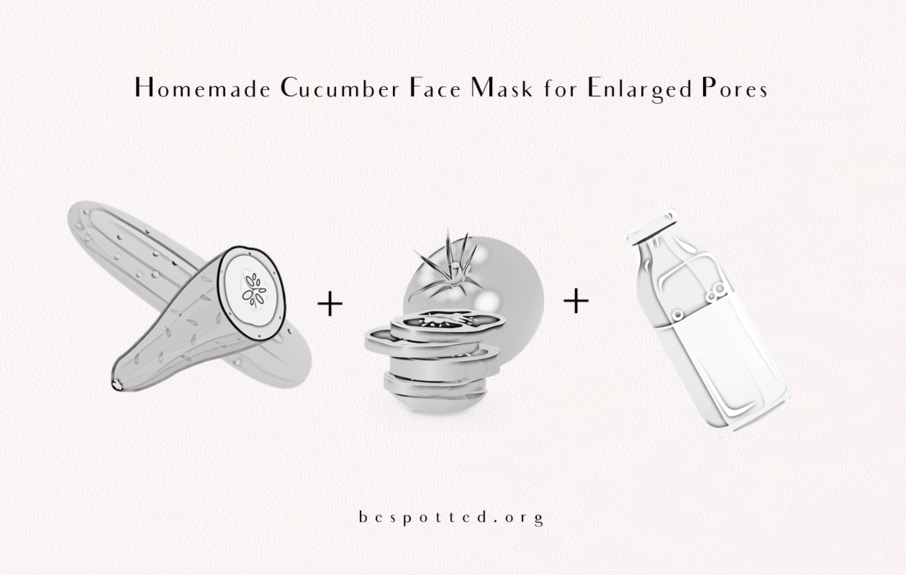 How to shrink enlarged pores with cucumber, tomato and yogurt
