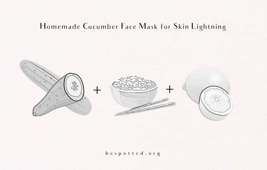 How to make Homemade Cucumber Face Mask for Skin Lightning