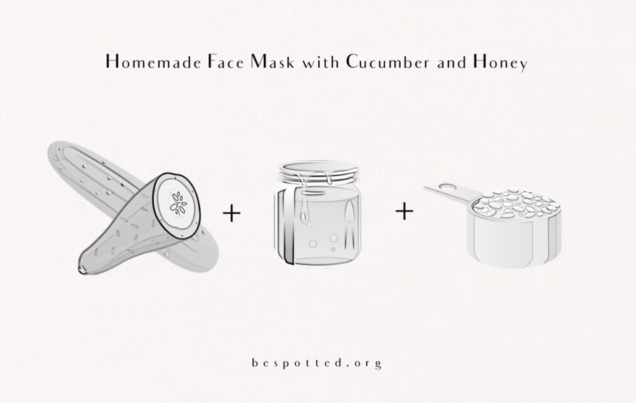 How to make Homemade Face Mask with Cucumber and Honey