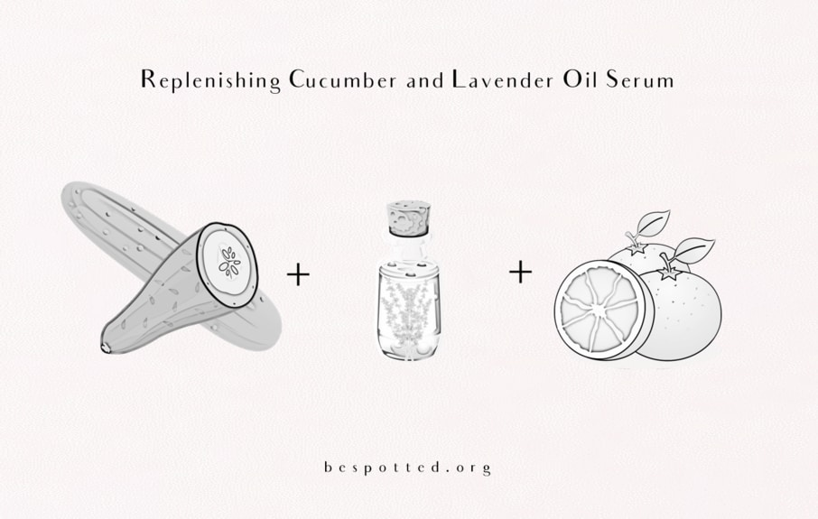 How to make Replenishing Cucumber and Lavender Oil Serum