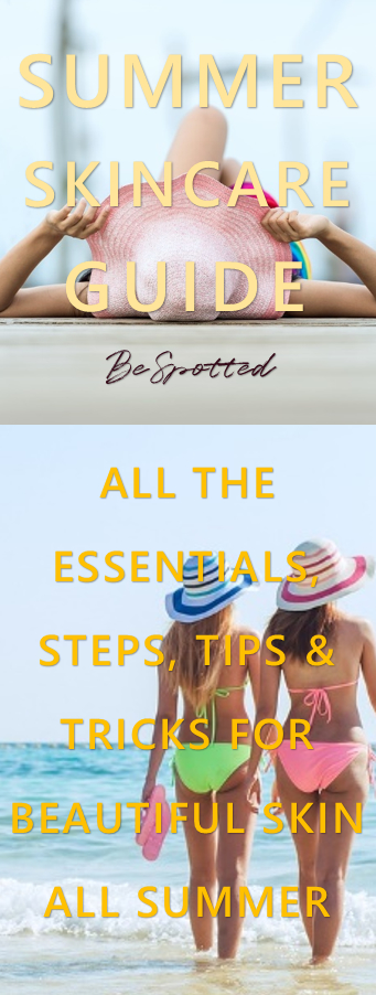 !0 essential summer skincare tips - Pinterest friendly image