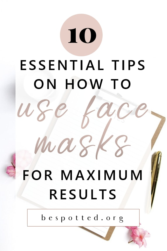 How to use a face mask - Pinterest friendly image
