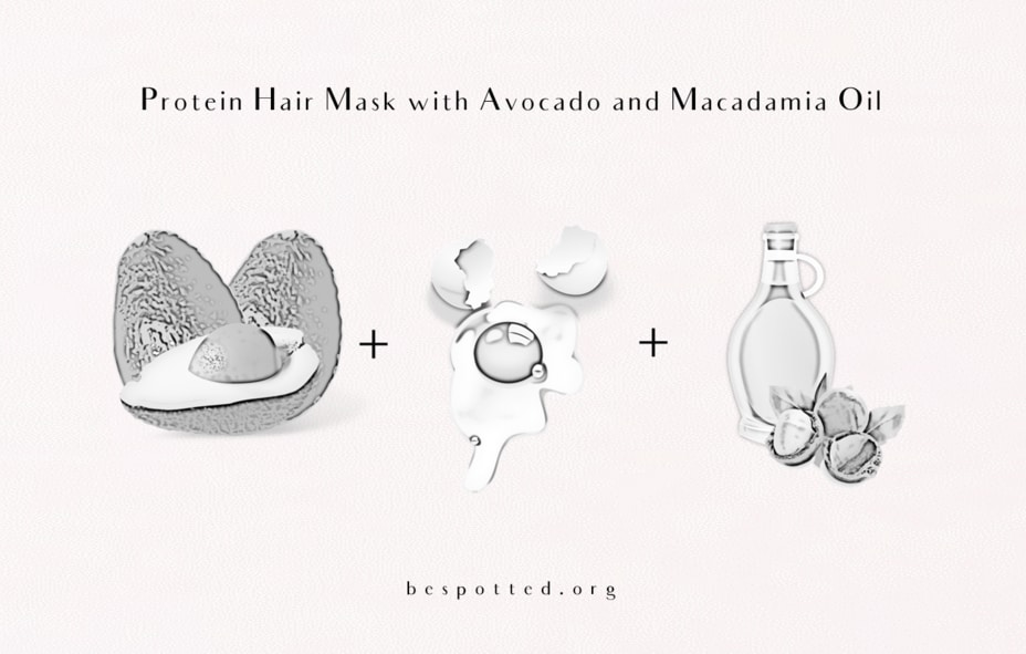 How to make DIY Protein Hair Mask with Avocado and Macadamia Oil