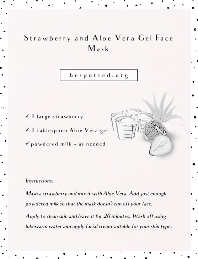 Recipe for Strawberry and Aloe Vera Gel Face Mask
