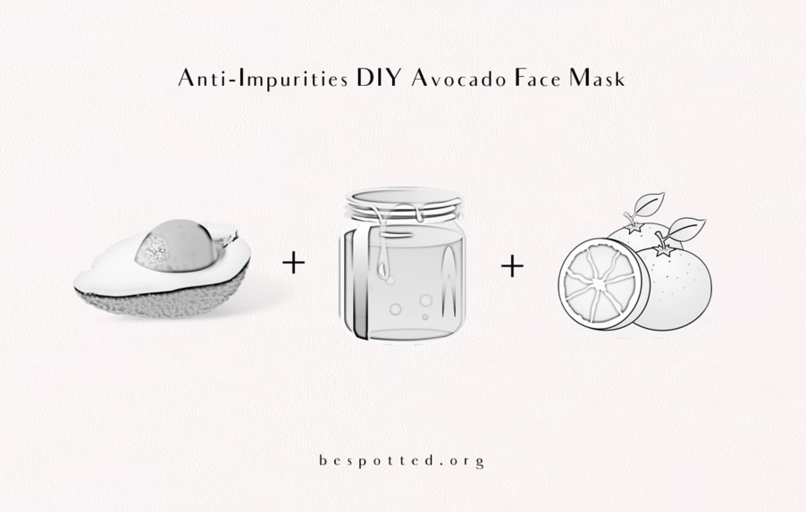 The ingredients for Anti-Impurities Avocado Face Mask