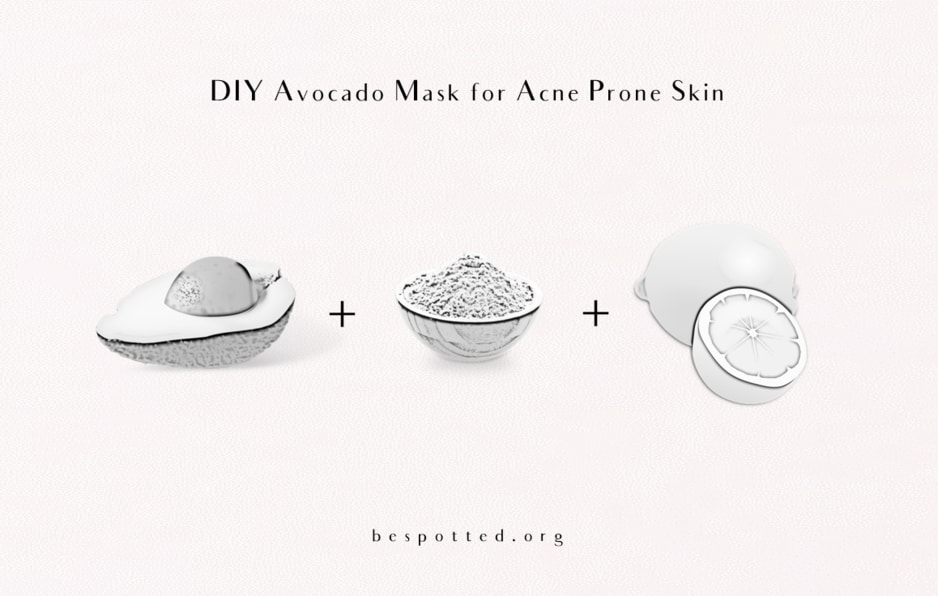 The ingredients for Avocado Mask for Acne Prone Skin