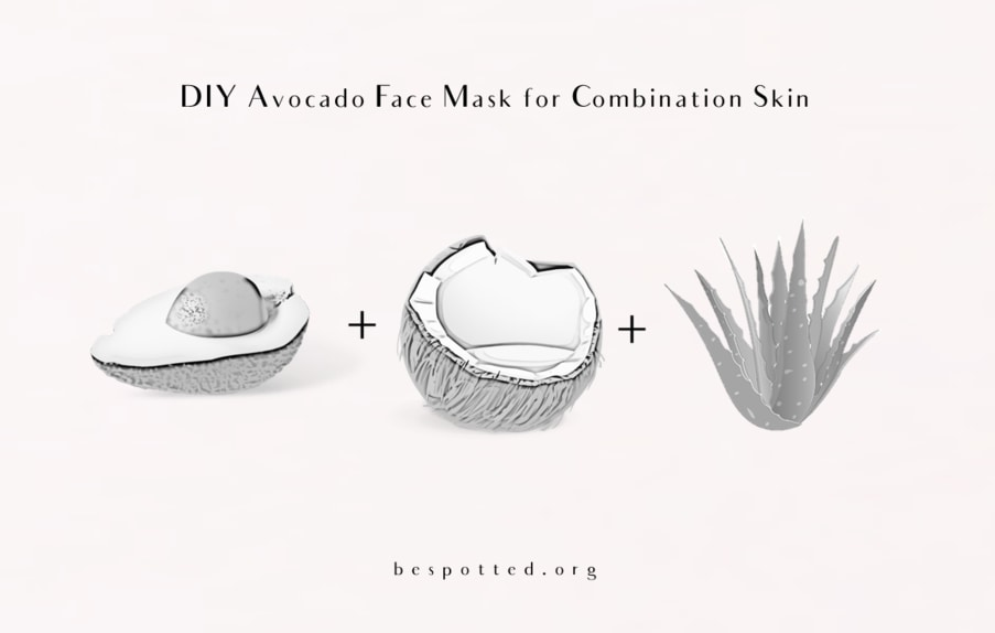 How to make Avocado Face Mask for Combination Skin