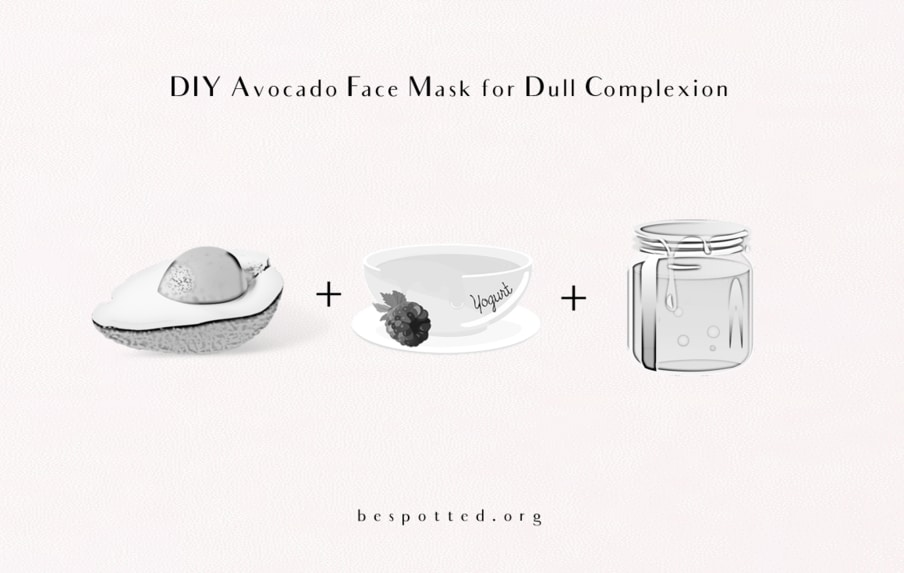 How to make Avocado Face Mask for Dull Complexion