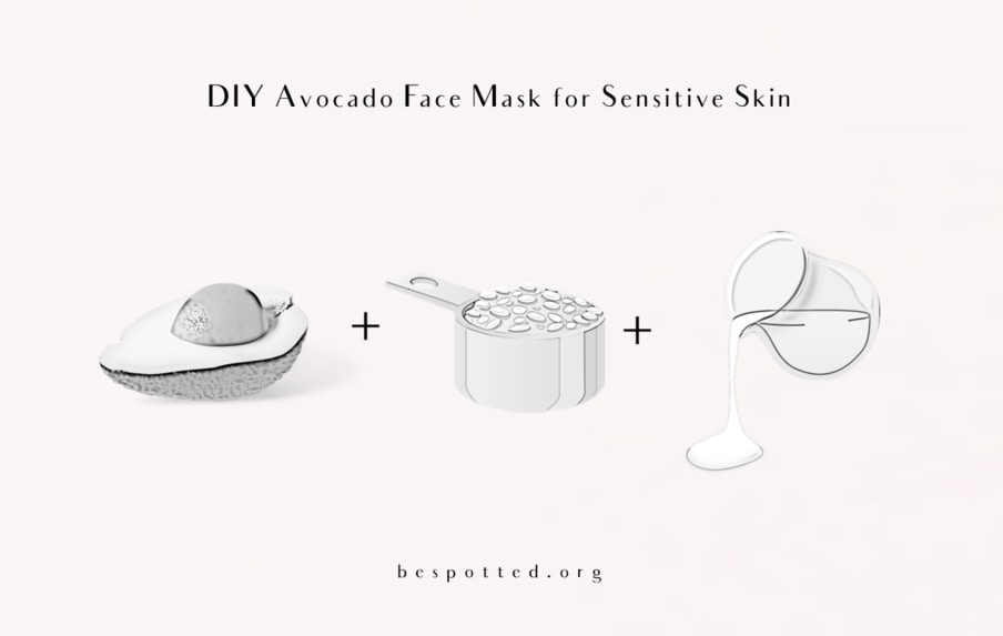 How to make DIY Avocado Face Mask for Sensitive Skin
