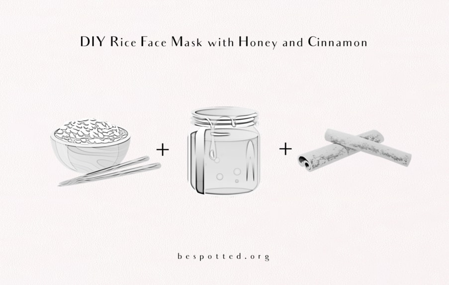 How to make DIY rice face mask with honey and cinnamon