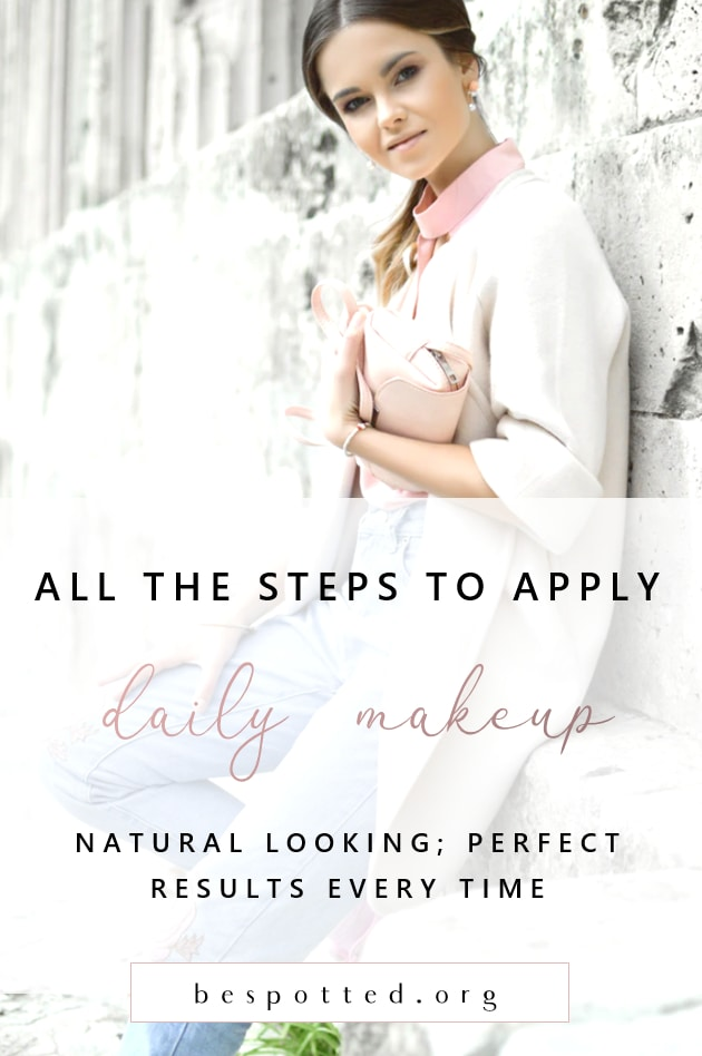 How to Perfectly Apple Natural Looking Daily Makeup - Pinterest Friendly Image