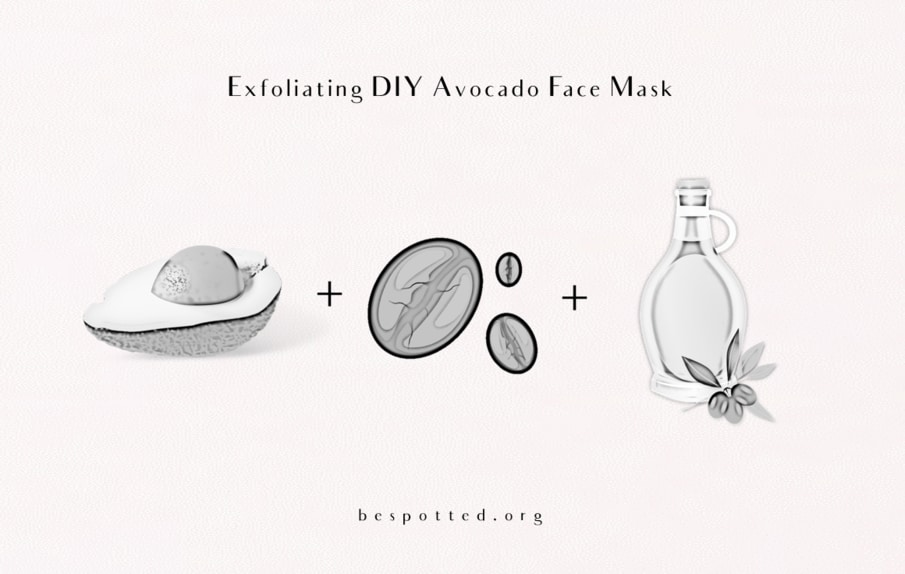 How to make avocado scrub