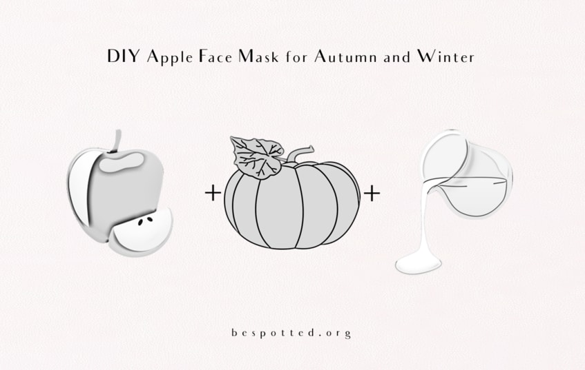 The Ingredients for a DIY Face Mask with Apple Puree, Pumpkin and Milk