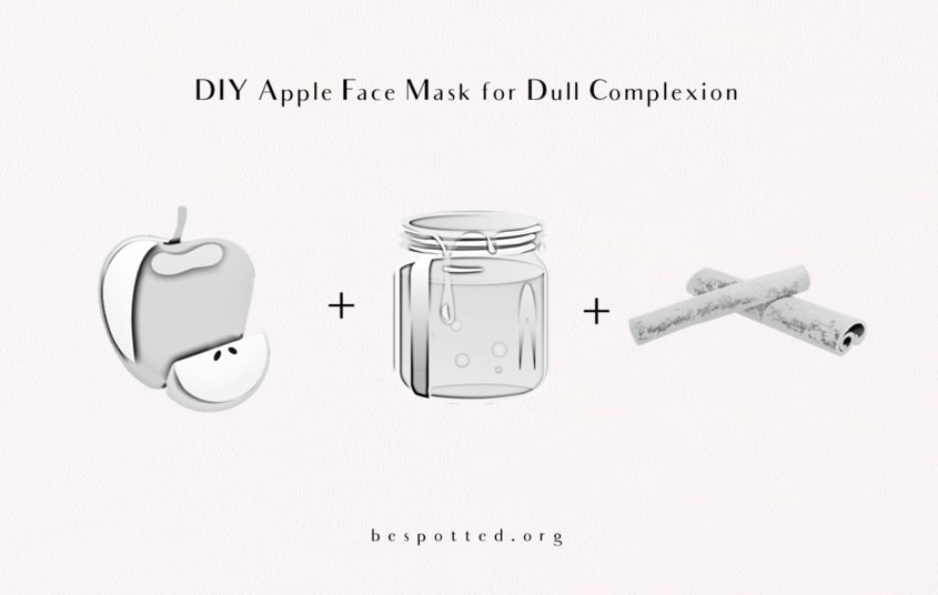 Ingredients for DIY Apple Face Mask for Dull Complexion