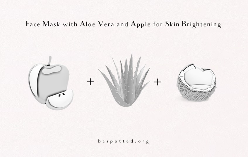 Everything you need for Face Mask with Aloe Vera and Apple for Skin Brightening