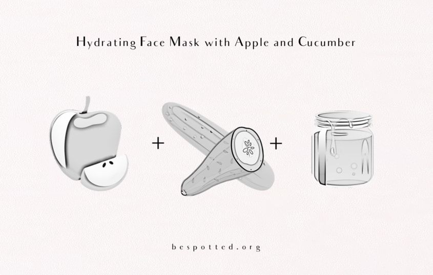The Best Way to Use Benefits of Apple for Skin that is Dull and Dehydrated - Hydrating Face Mask with Apple and Cucumber