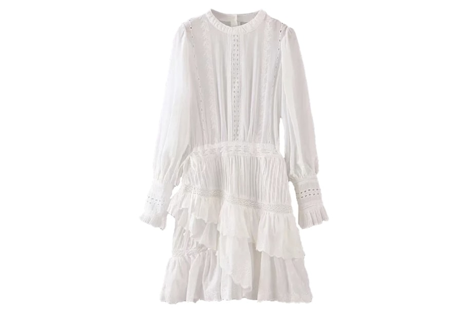 One of the spring wardrobe essentials - a lightweight white dress