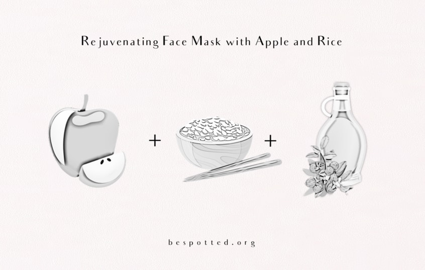 The Ingredients for Rejuvenating Face Mask with Apple and Rice