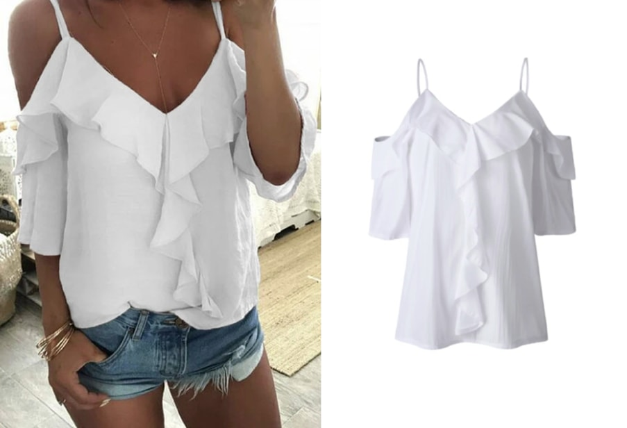 White short sleeves top