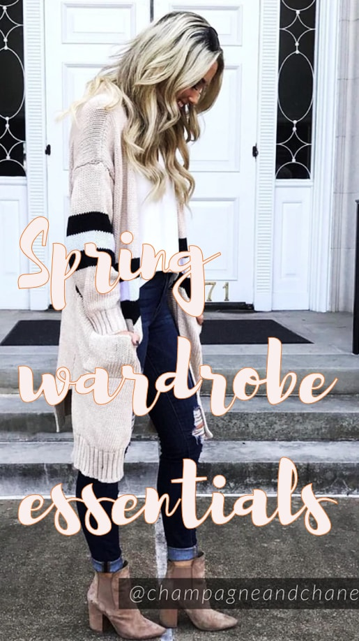 A pin image for Spring Wardrobe Essentials