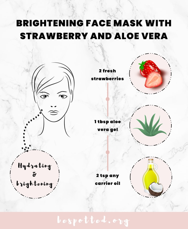 A Recipe for Brightening DIY Face Mask with Strawberry and Aloe Vera